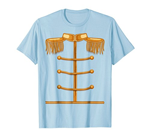 Mens Charming Prince Easy Cosume Shirt - Funny Halloween Gift Tee Large Baby Blue