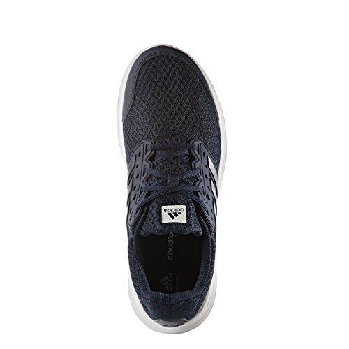 Scarpa Da Running Adidas Uomo Galaxy 3 M, Nera / Nera / Nera, Media 7,5 Me Navy Collegiale / Argento Metallizzato / Bianco