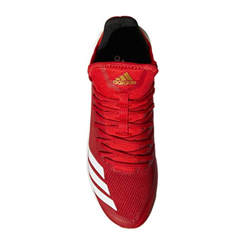 Image of the adidas Icon 4 Cleat Men's Baseball 12 Power Red-White-Scarlet