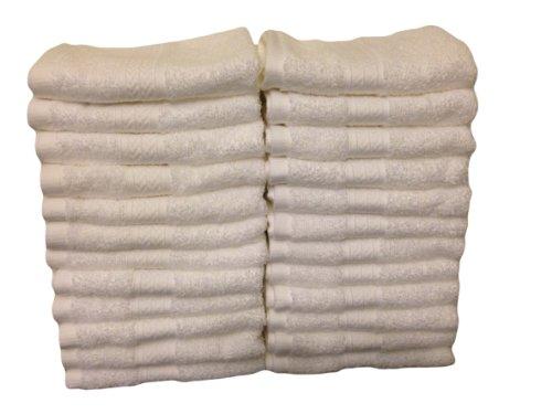 Grandeur Luxury Hospitality Washcloths, 24-Pack