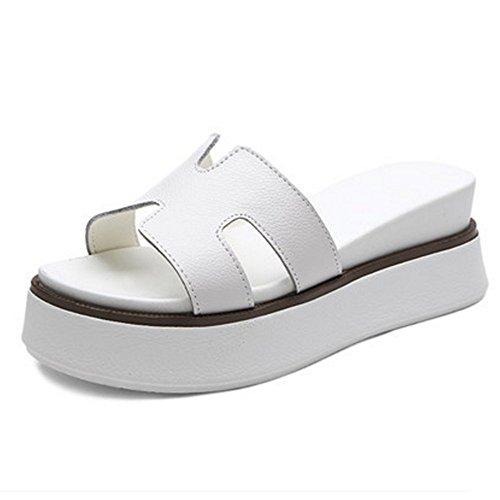 Dimensioni Donna Nuove Con Bianco Nero Pantofole Sandali Bianca colore Nero cn36 Estate uk4 Antiscivolo Fei Moda Eu36 xwCR7gn44