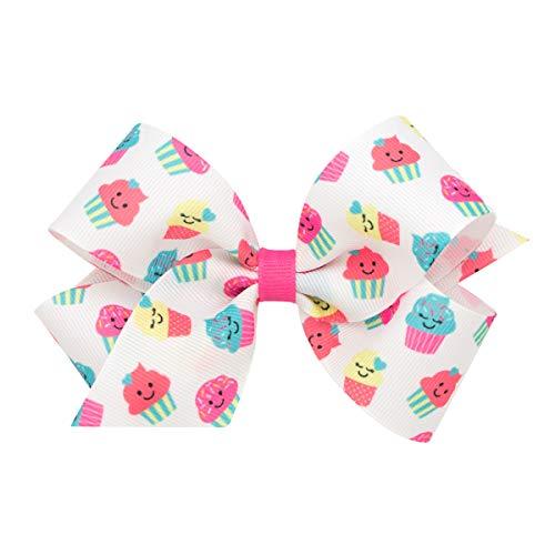 Wee Ones Medium Girl's & Baby Girl's Print Bow - -