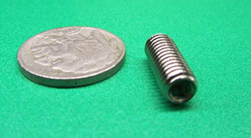 M6 x 1 mm Thread x 16 mm Length 50 pcs Metric 18-8 Stainless Steel Cup Point Set Screws