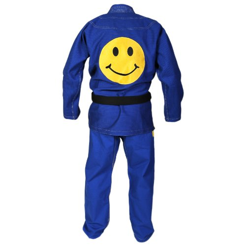 BJJ-Jiu-Jitsu-Gi-by-KO-Sports-Gear--100-Cotton-Pearl-Weave-Gi--Smiley-Face-Gi--BJJ-Kimono-and-Pants