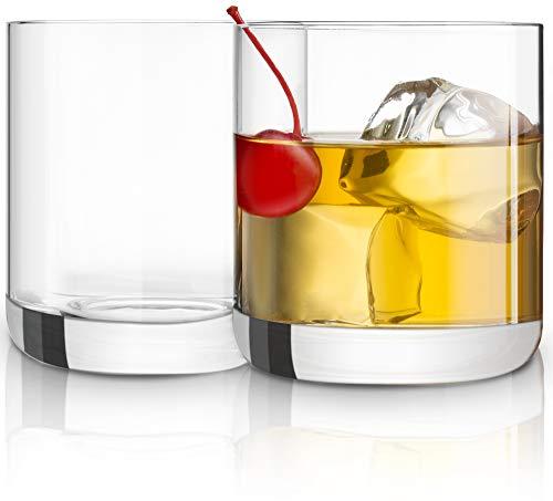JoyJolt Nova Crystal Old Fashioned Whiskey Glasses, Excellent For Cocktail Bourbon Rocks Tumbler Glass 10 Ounce Bar…