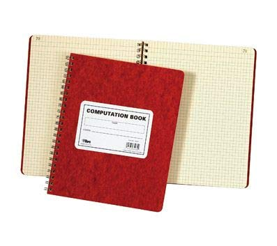 TOPS Computation Book, 11.75 x 9.5 Inches, Double Wire, 152 Numbered Pages, Quadrille Ruled, 76 Sheets, Buff, (35061) (Numbered Page Bound Book)