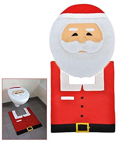 Copri Wc Babbo Natale.Urbandesign Copri Wc E Tappetino Per Wc Motivo Babbo Natale