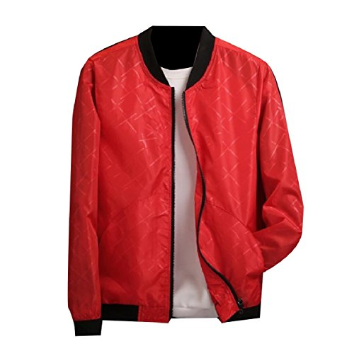 Oversized Zip Full Red Autumn Howme Relaxed Jacket Top Men Juniors IaOUnwqY