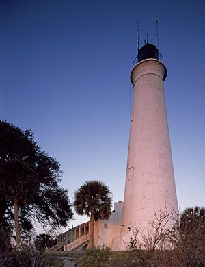Photo St. Marks Light St. Marks River in the Apalachee Bay Florida's - Apalachee Pictures