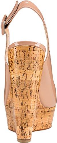 Trusify Mujer 12cm EU tamaño 34-46 Truabandon Tacón ancho 12CM Sintético Sandalias de vestir Beige