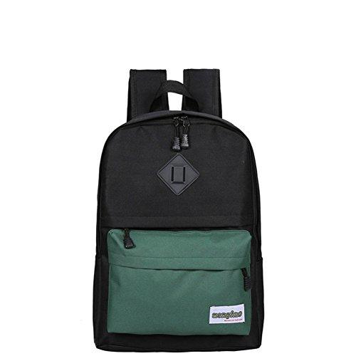 Bolsas de la escuela/Color costura mochila de gran capacidad/Mochila casual salvaje-C B