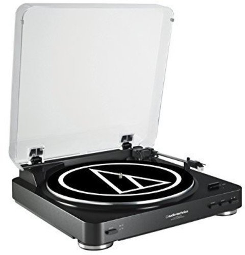 Audio Technica AT-LP60BK-USB Fully Automatic Belt-Drive Stereo Turntable (USB & Analog), Black Turntable Usb Connection