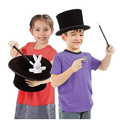 Melissa & Doug Magic in a Snap! Magician's Pop-Up Hat with Tricks (Illustrated Instructions, 4 Pieces, Great Gift for Girls and Boys - Best for 4, 5 and 6 Year Olds): Toys & Games