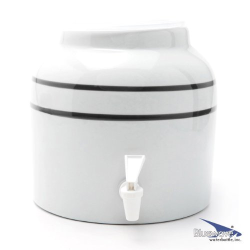 (Bluewave Black Stripe Design Beverage Dispenser Crock )