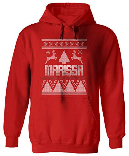 Threads of Doubt Marissa Ugly Sweater Christmas Holiday Adult Hoodie for Men & Women