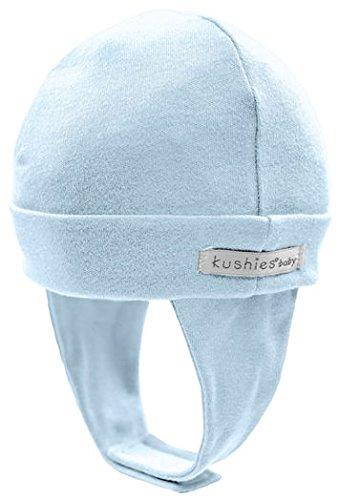 Kushies 100% Cotton Interlock Baby Boys or Girls Cap Hat with Ear Flap (Large, (Kushies Baby Cap)