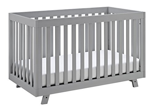 Storkcraft Beckett 3-in-1 Convertible Crib Pebble Gray, Fixed Side Crib, Solid Pine and Wood Product Construction, Converts to Toddler Bed Day Bed or Full Bed (Mattress Not Included) ()