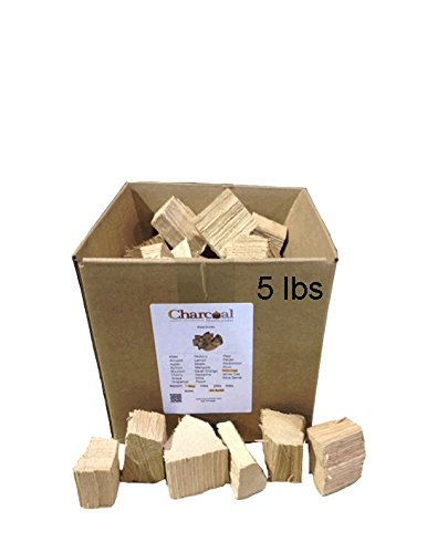 CharcoalStore Red Oak Wood Smoking Chunks - No Bark (5 Pounds)