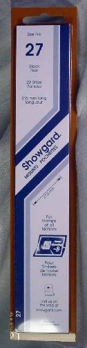 Showgard Strip Style Black Stamp Mounts Size 27 (Stamp Strip)