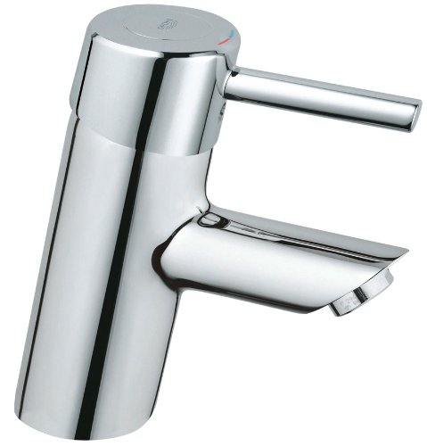 Grohe 34 271 000 Concetto Centerset Lavatory Less Drain, StarLight