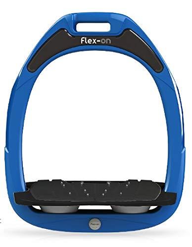 【 限定】フレクソン(Flex-On) 鐙 ガンマセーフオン GAMME SAFE-ON Mixed ultra-grip フレームカラー: ブルー フットベッドカラー: ブラック エラストマー: グレー 09501   B07KMNSXVR