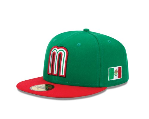(World Baseball Classic 2013 Mexico Official On-Field 5950 Fitted Cap, Green, 8)