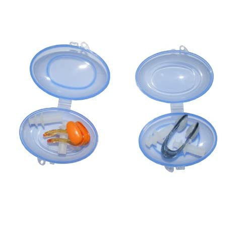Colorfulworldstore Paquet de 2 Kit pince-nez et bouchons d'oreilles adulte-Pince-nez et bouchons d'oreilles légers et confortables-Pince-nez et bouchons d'oreilles pour la natation