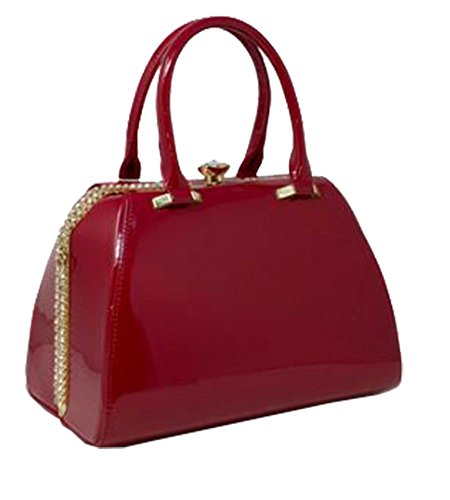 brillant DIVA Medium pour Rouge Sac haute tout diamant fourre Champagne SwgEq