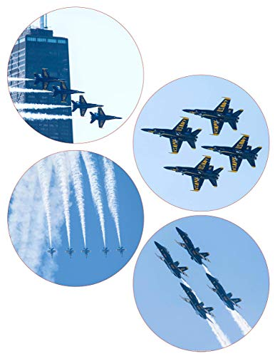 US Navy Blue Angels Coasters Chicago Air Show Neoprene (Set of 4)