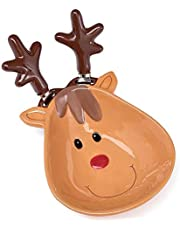 Burton + Burton Ceramic Reindeer Dip Bowl with Spreaders