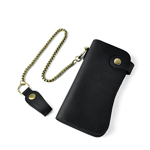 Leather Fashion Button Organizer Checkbook