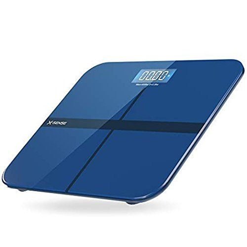 X-Sense Digital Bathroom Scale, Body Weight Monitor with Step-On Technology and Tempered Glass, 400...