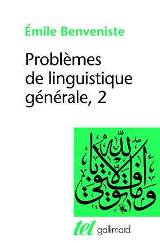 Problèmes de linguistique générale... (TEL) by Émile Benveniste