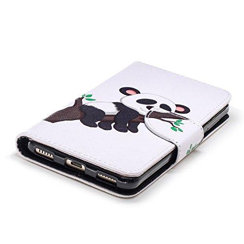 Motif Homme Protection Fille Huawei Etui Y6 à Huawei Femme Coque en Y6 2017 de Y6 Protection Étui pour Cuir de Huawei Portefeuille 2017 Rabat Herbests Porte Panda 3 en cartes avec 2017 Housse Etui Coque pour qp48x0S