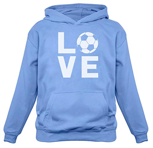 TeeStars - I Love Soccer - Gift for Soccer Players/Fans Women Hoodie Medium California Blue