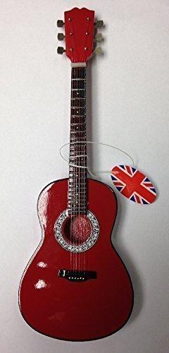 Hacha para guitarra en miniatura~BA07~~acústicas estándar rojo ...