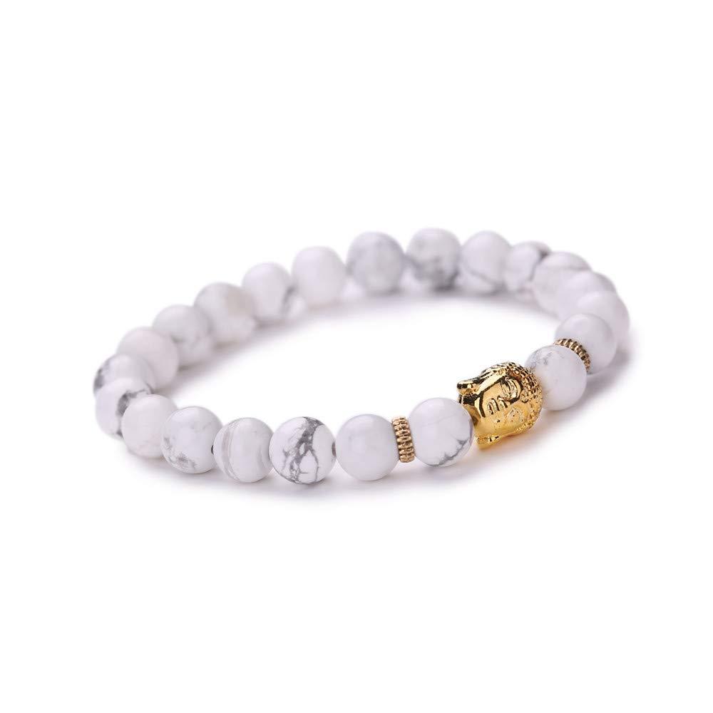 Dream_Mimi Women Men Bracelet Buddha Elastic Beaded Bracelet Chain Charm Bracelets Jewelry
