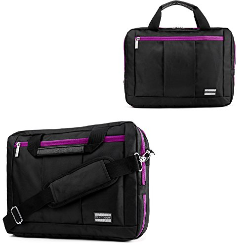 13.3Inch Laptop Messenger Bag Shoulder Bag Carrying Case 13.3inch to 14inch for Dell Inspiron 13 / Latitude 13 / Vostro 14 / Chromebook 13 / Alienware 13 / Latitude 14 / Inspiron 14 by Vangoddy