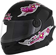 Pro Tork Capacete Infantil Liberty Four Kids For Girls 54 Preto