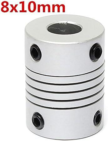 Acoplamiento Acoplador de eje flexible de Aluminio 8mm a 8mm