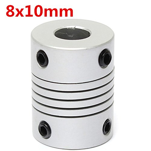 - CoCocina 8mm x 10mm Aluminum Flexible Shaft Coupling OD19mm x L25mm CNC Stepper Motor Coupler Connector