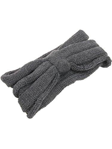 En Bandeau De tête Serre Femme Cache Grey Dark D'hiver Tricot Jelinda oreilles Crochet Turban Large Fille nSKctHzyW