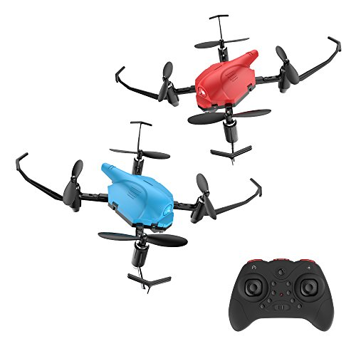 Holyton Mini RC Battle Drones with Infrared Fighting Function, Altitude Hold Mode, Headless Mode and 3D Flips
