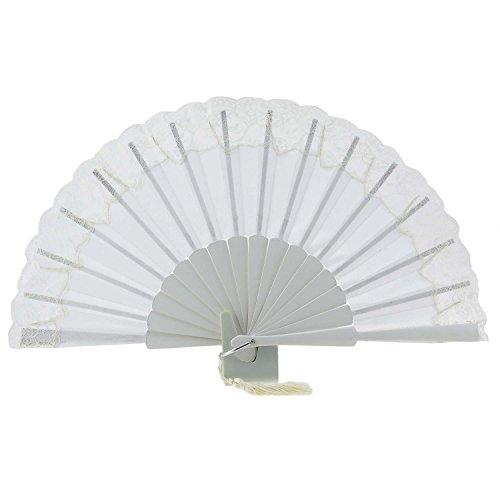 novia seda de Abanicos ventilador de afeitado Hielo encaje con salvaje PBAAXxt7qw