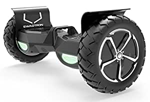 """Swagtron Swagboard Outlaw T6 Off-Road Hoverboard - First in The World to Handle Over 380 LBS, Up to 12 MPH, UL2272 Certified, 10"""" Wheel (Black)"""