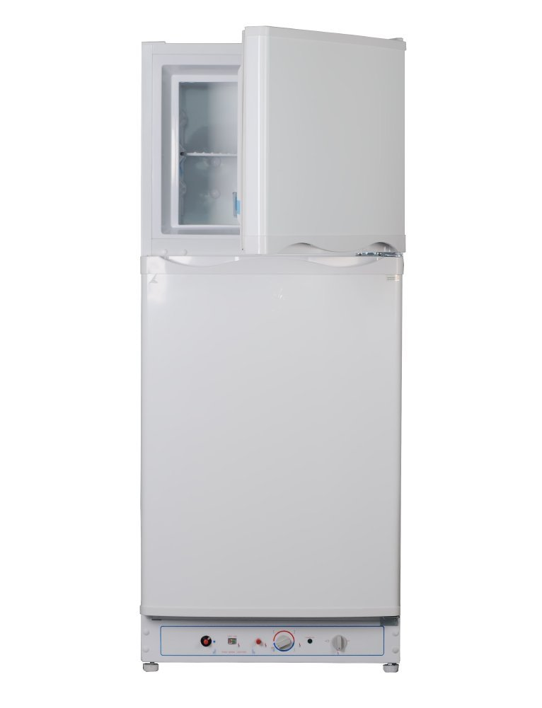 Smad Propane Refrigerator with Freezer Electric LPG 2 way Refrigerator No Noise Large Capacity 6.1 cu.ft, White