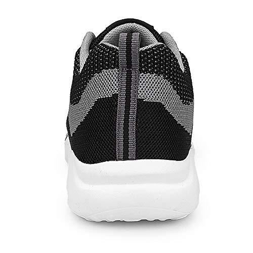 Ocio Encaje Negro amp;gris Cómodo Hombres Deportes Zapatos Cuatro Zhongke Estaciones qtE6Fw8n