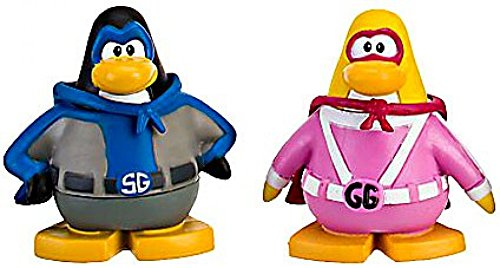Disney Club Penguin Series 9 Mix N Match Mini Figure Pack Shadow Guy Gamma Girl Includes Coin with Code!