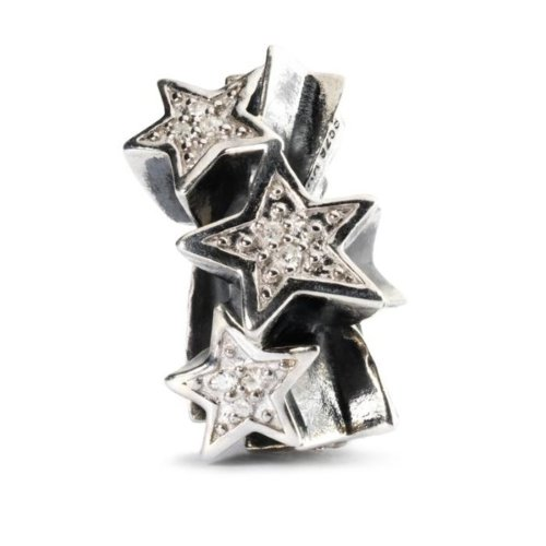 Trollbeads Shooting Stars with diamonds- TAGBE-00039