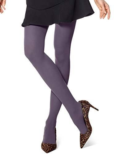 HUE Women's Opaque Tights Smoky Purple 3 by HUE